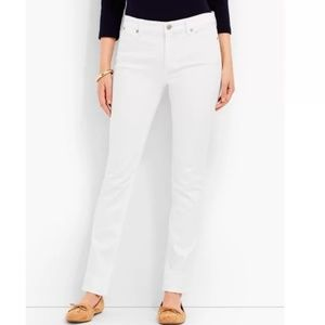 Talbots Flawless 5 Pocket Straight white jeans